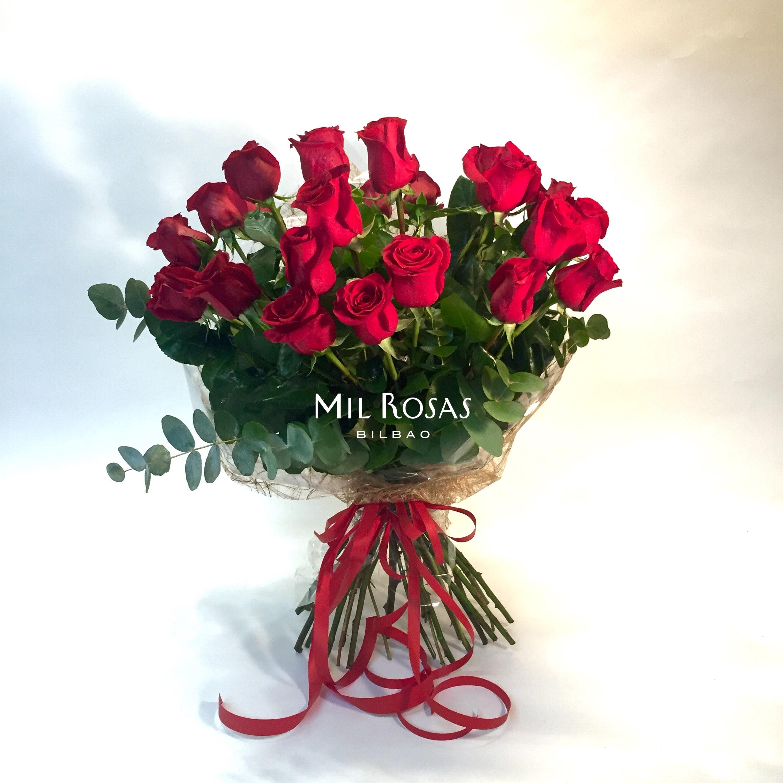 Ramo 24 Rosas Rojas Mil Rosas Bilbao Tu Floristería Online